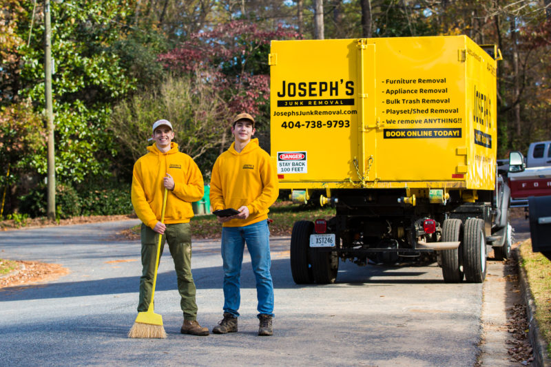 Joseph's Junk Removal sweeps after moving junk