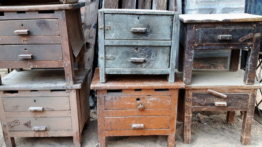 Old furniture in need of furniture removal services